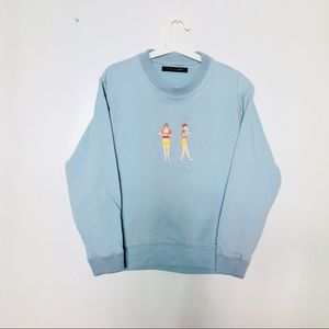 Tops - BABY BLUE SWEATSHIRT